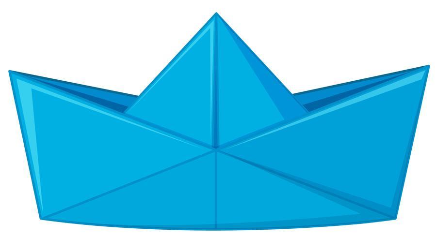 Blue paper folded in hat shape