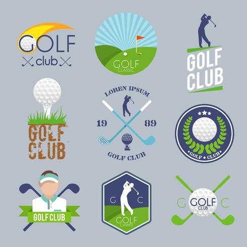 Golf label set vector