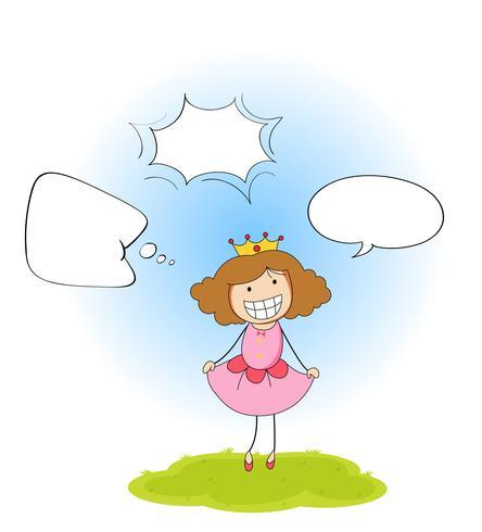 A princess with speech balloon