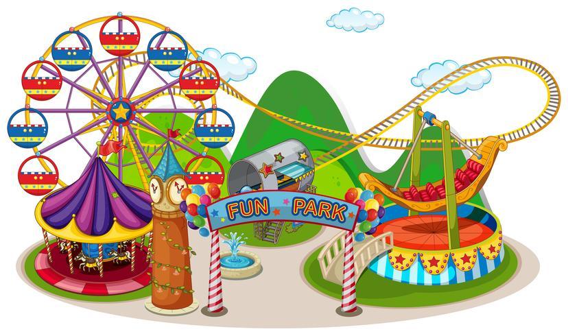 Um divertido parque e passeio vetor