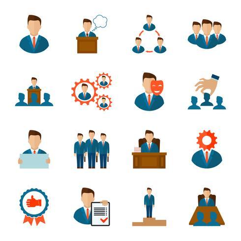 Executive-Icons flach