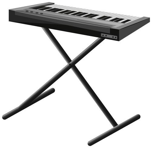 Elektronisches Klavier auf Metallständer