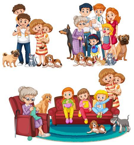 Eine Reihe von großen Familien