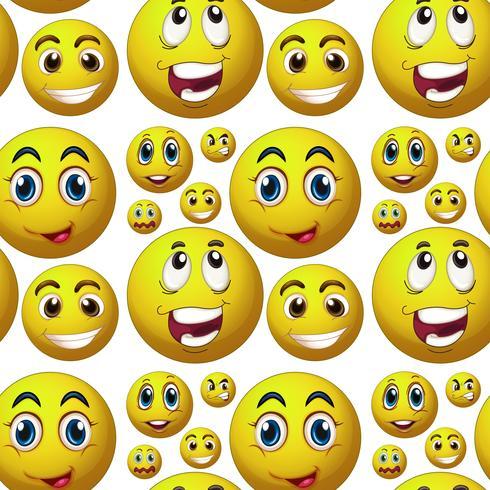 Nahtloses glückliches Gesicht
