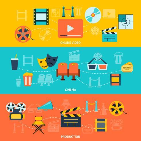Set di banner orizzontali del cinema