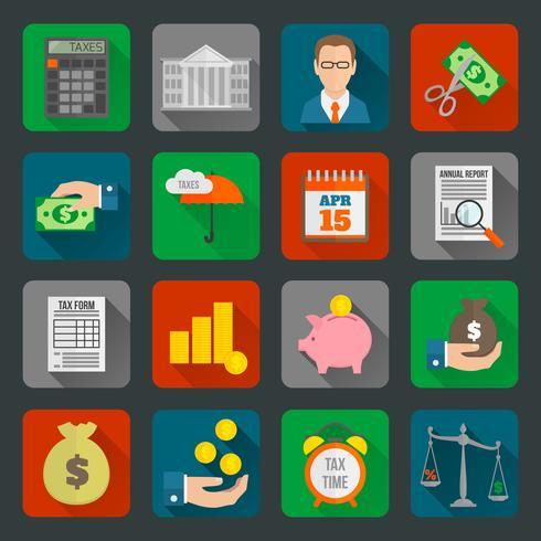 Steuer Icons Set