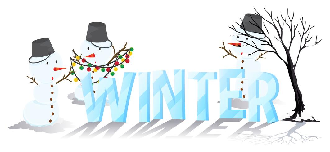 Font Design For Word Winter Download Free Vectors Clipart