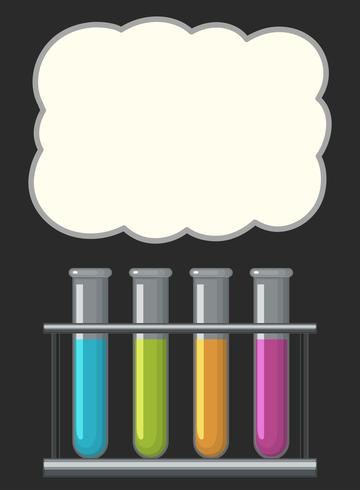Border design med science beakers