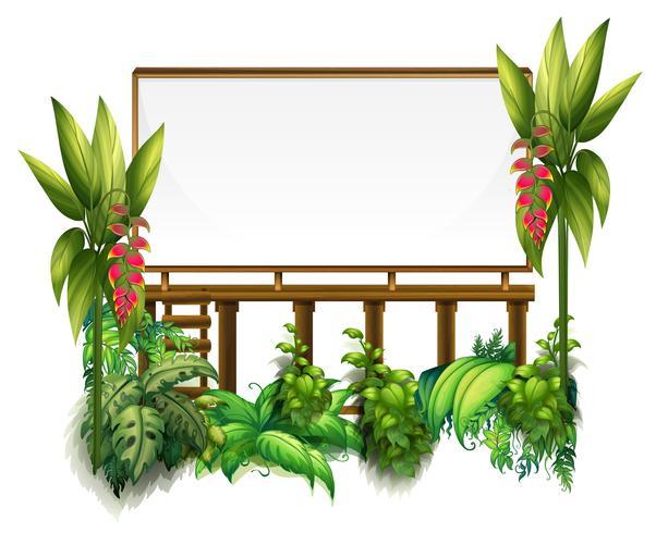 Modèle De Tableau Avec Des Plantes Vertes Telecharger