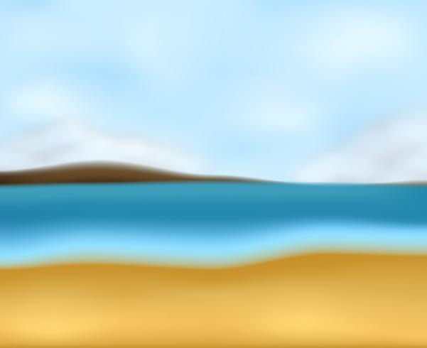 Een zeegezicht van het onduidelijk beeldstrand