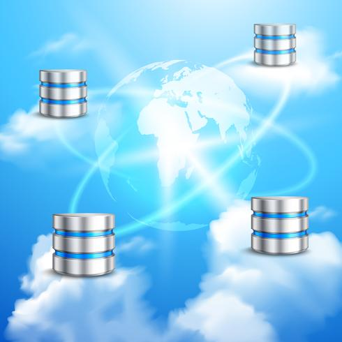 Fondo de computación en la nube vector
