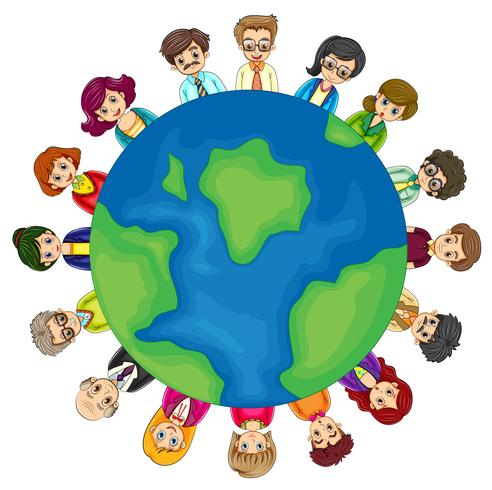 Men and women around the world vector