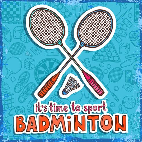 Badminton sketch background