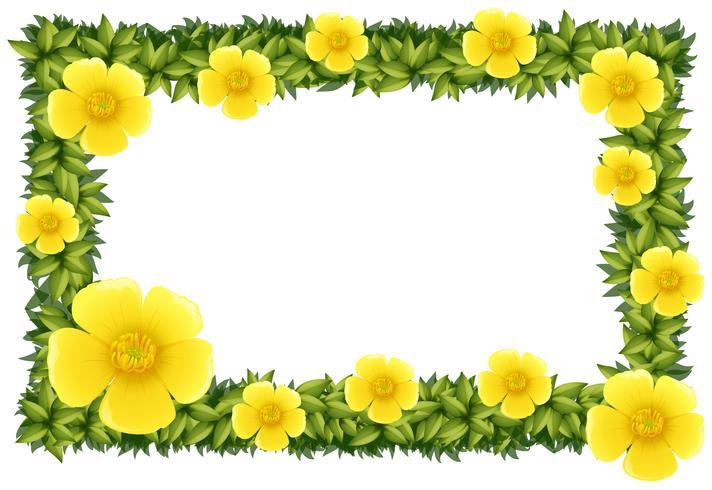 Diseño de marco con flores amarillas.
