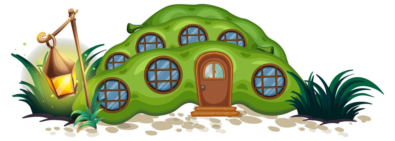 Casa de guisantes con ventanas redondas.