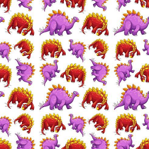 Dinosaur on seamless pattern