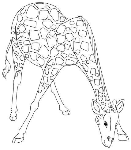 Doodles utarbetande djur för giraff vektor