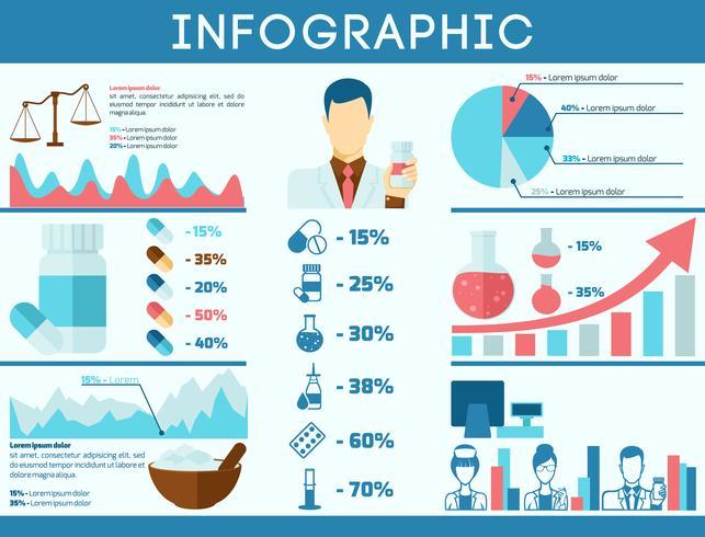 Pharmacist infographics set
