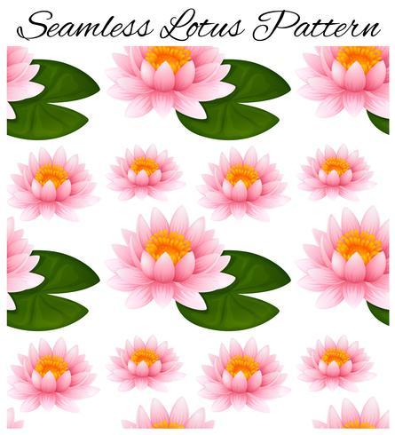 Sömlös bakgrund med lotus och löv vektor