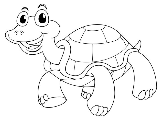 Animal outline for cute turtle - Download Free Vectors ...