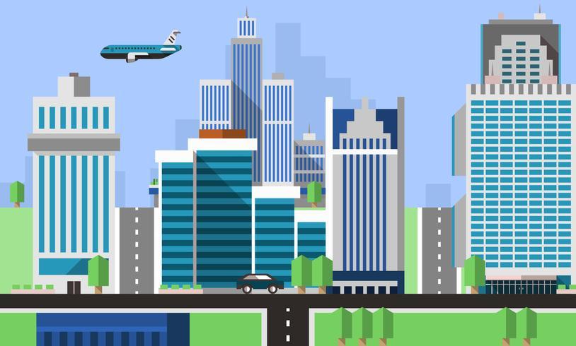 Wolkenkratzer Büros Hintergrund