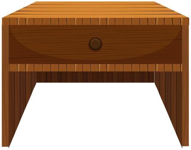 Wooden drawer in classic design vector