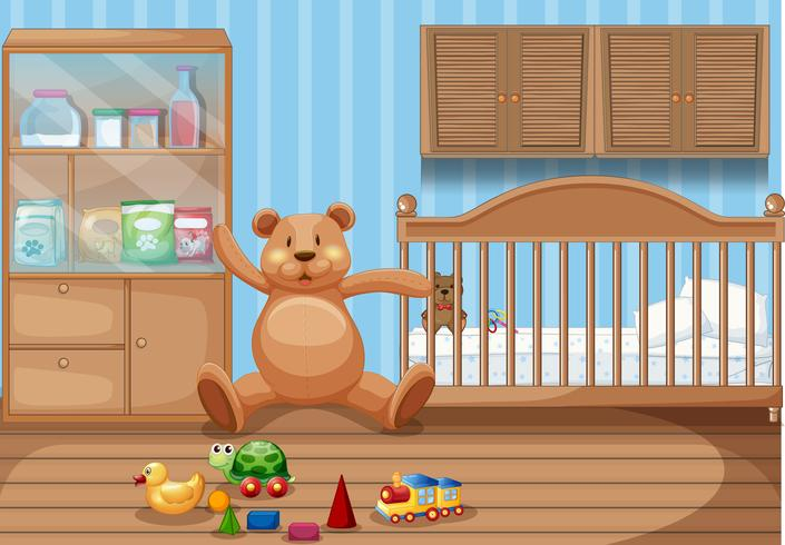 Kids Bedroom Interior and Toys
