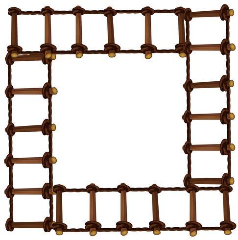 Frame design with wooden ladder
