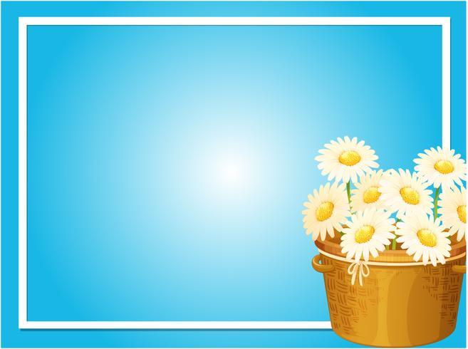 Modelo de fronteira com flores brancas na cesta