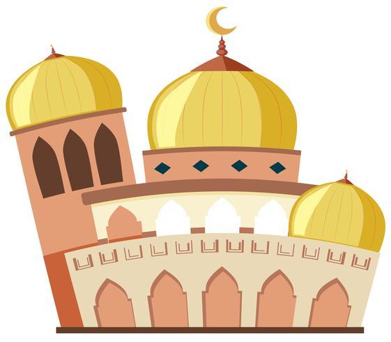 Una hermosa mezquita sobre fondo blanco