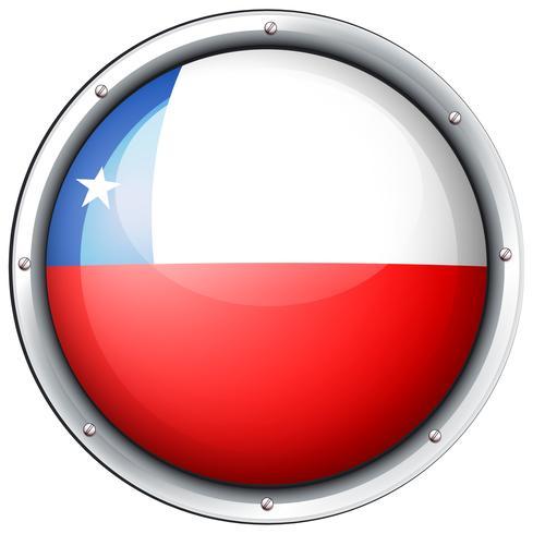 Bandeira do Chile no crachá redondo