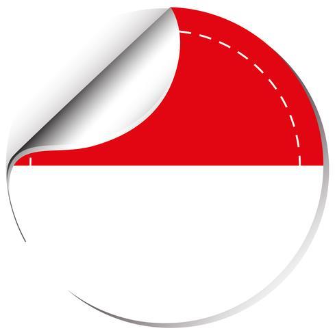 Indonesien flagga på rund emblem vektor