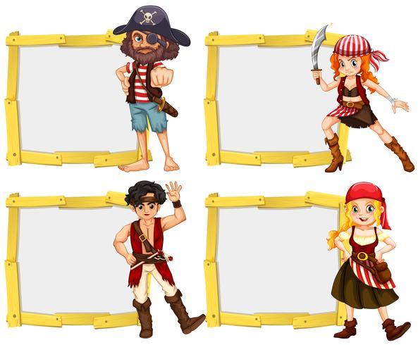 Gränsmall med piratbesättning