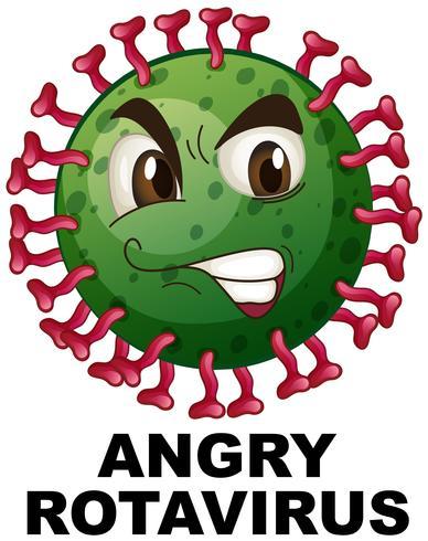 Närbild på arg rotavirus