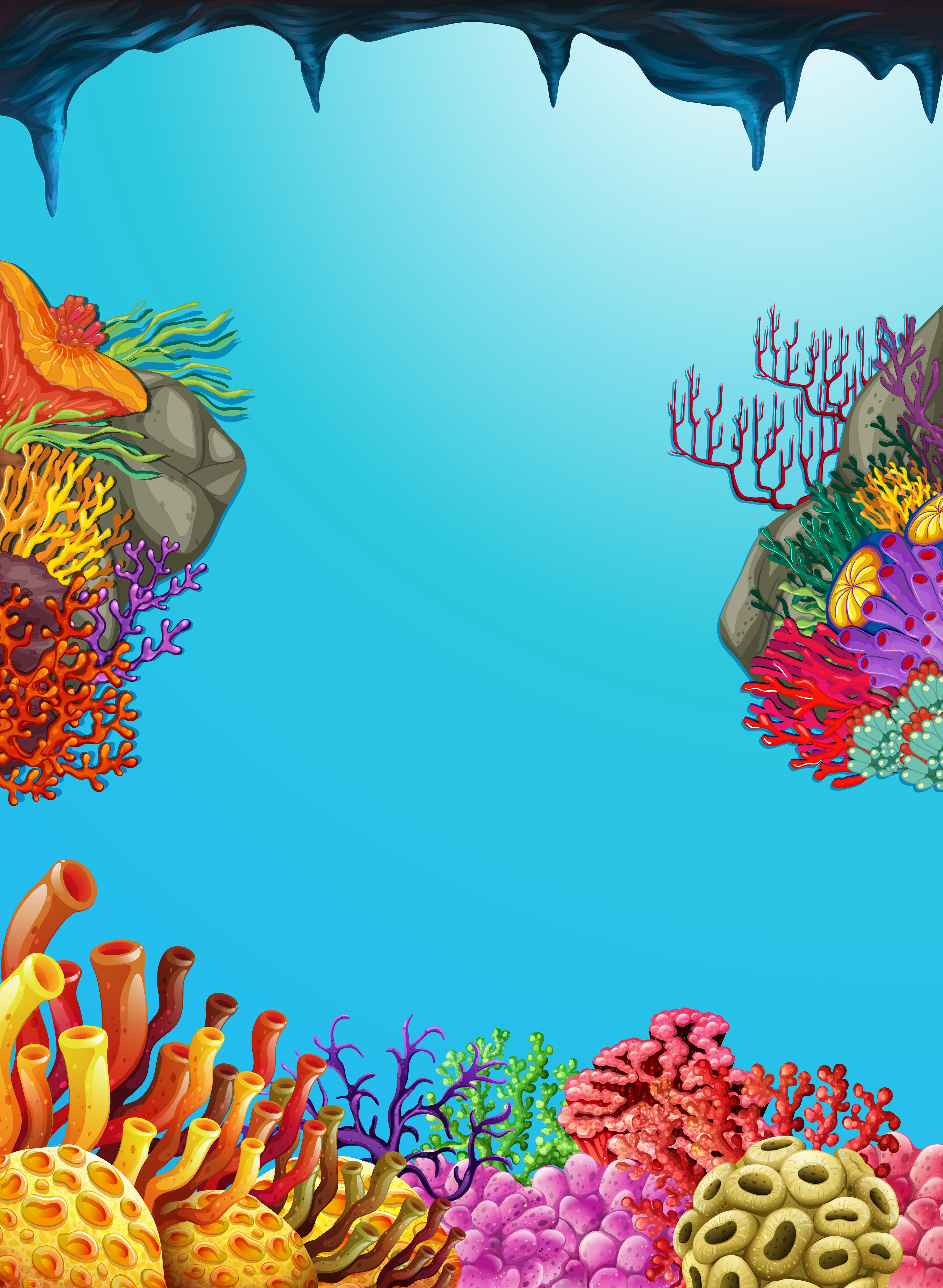Scene With Coral Reef Underwater Download Free Vectors