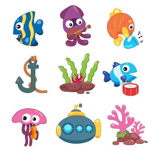 oceaan dieren collectie ontwerp