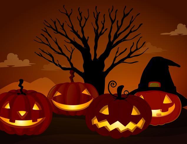 Spooky Pumpkin op Halloween Night