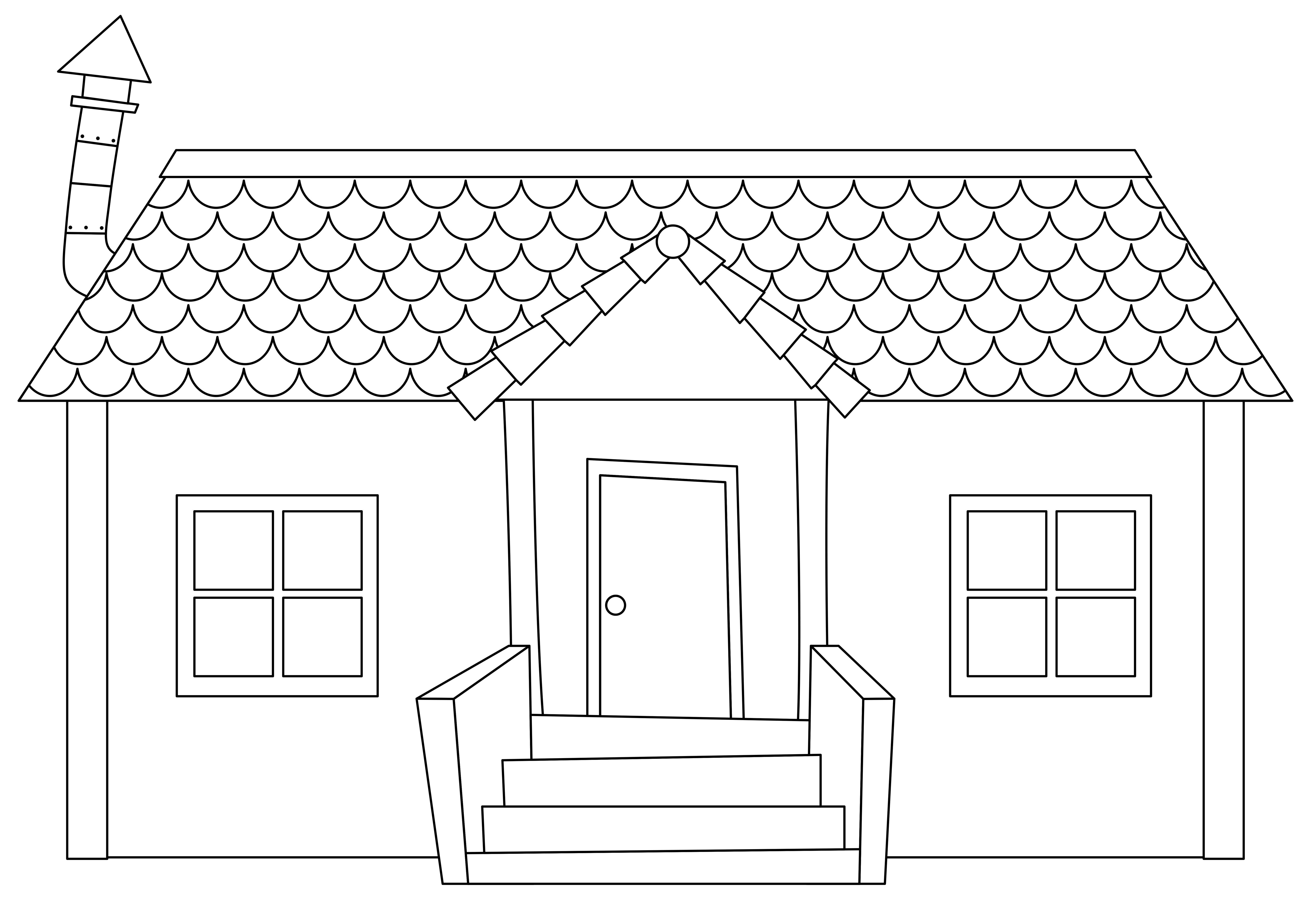 Simple Modern House Outline