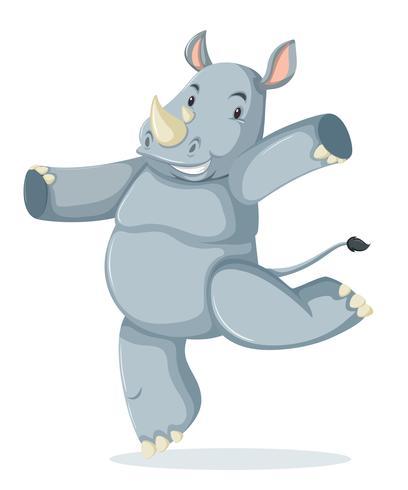 Un personaje de rinoceronte feliz.