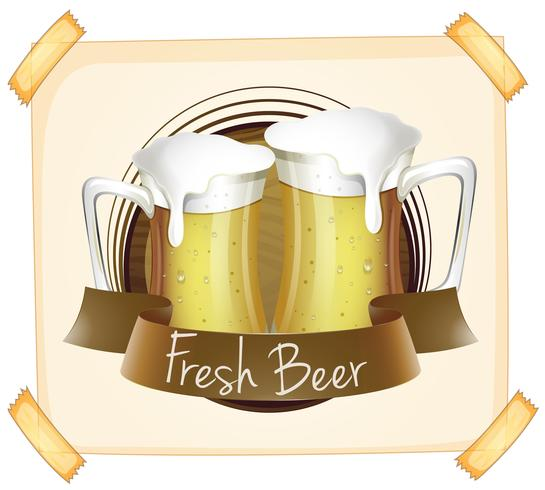 Affisch reklam färsk öl