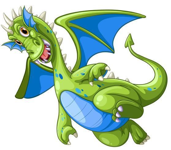 Drago Verde Su Sfondo Bianco Scarica Gratis Arte Vettoriale
