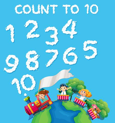 Math count cloud number vector