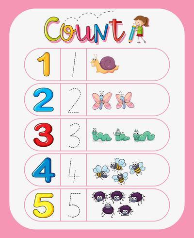 Math number count worksheet
