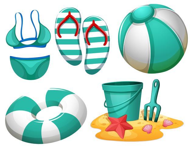 Set of beach element