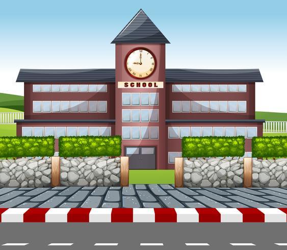 Un moderno edificio escolar.