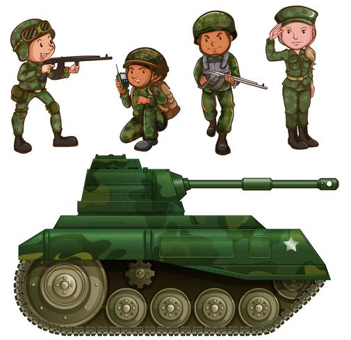 Un gruppo di soldati