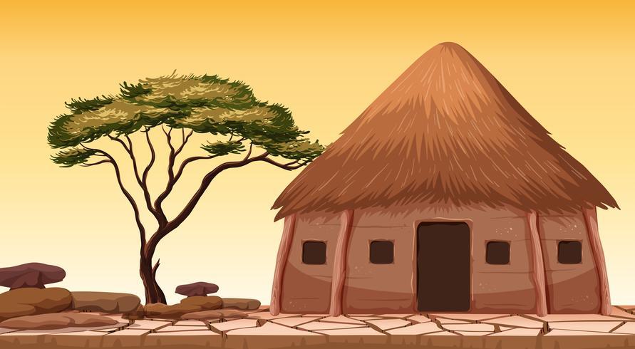A traditional hut at desert