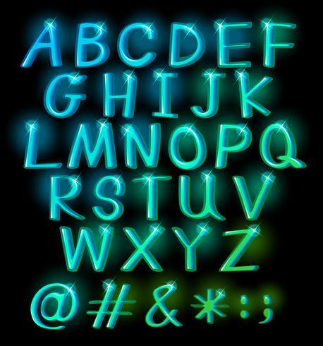 Grandes lettres pétillantes