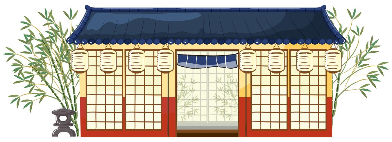 A traditional japanese house vector