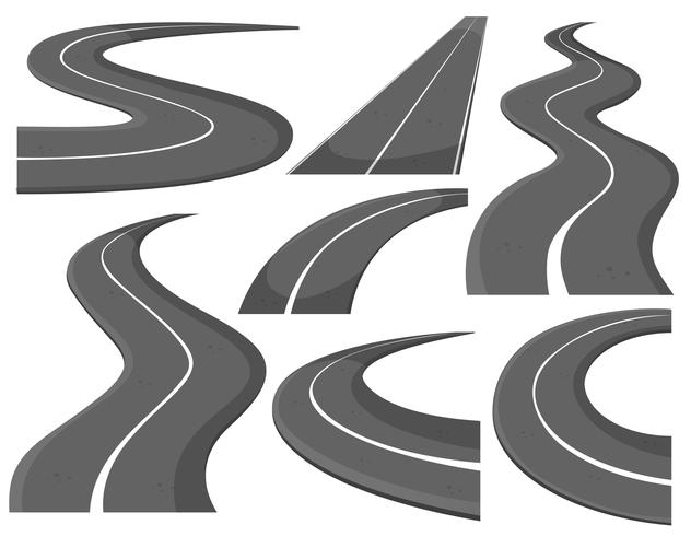 Different design of roads vector